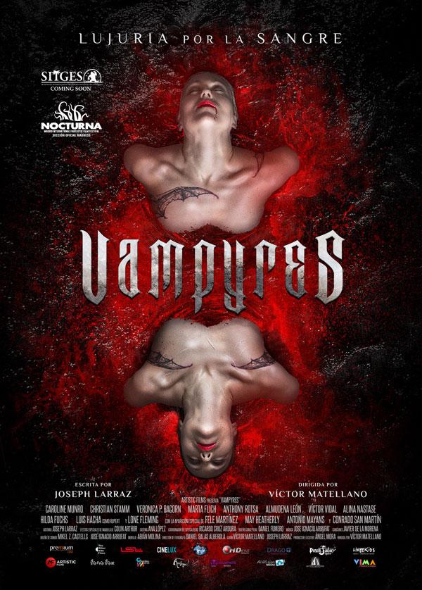 Cartel película Vampyres. castellano