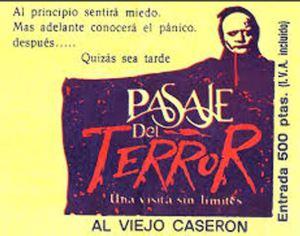 Ticket del Pasaje del Terror