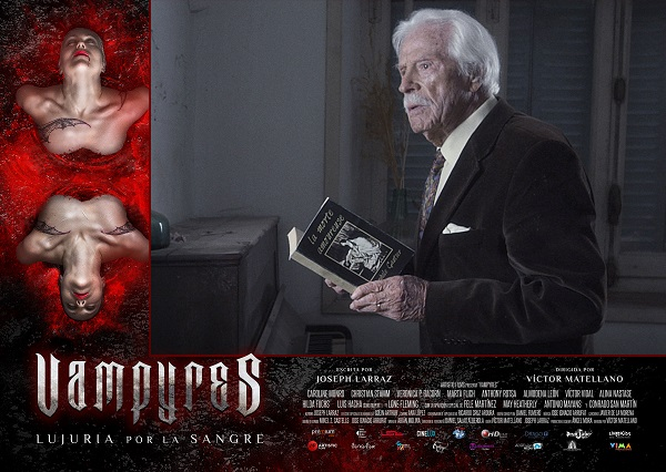 "Lobby card ""Vampyres"" (2015, Víctor Matellano) with Conrado San Martín"