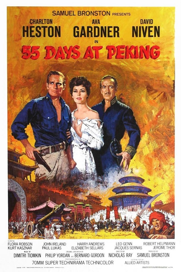 """poster """"""""55 days at Peking"""""""