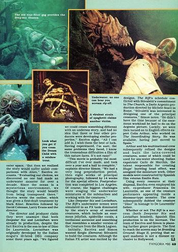 The Rift. Fangoria #86 September 1989.