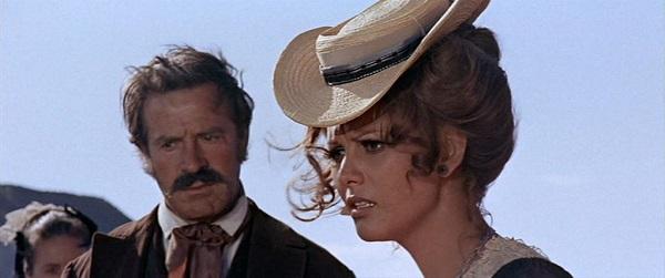 """Claudia Cardinale and Conrado San Martín. """"C´era una volta il West"""". Sergio Leone"""