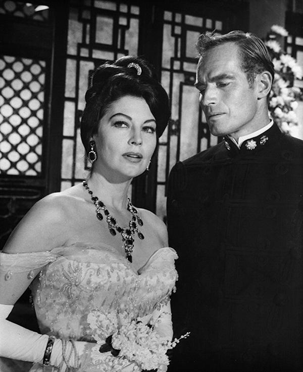 "Ava Gardner & Charlton Heston. ""55 Days at Peking"""