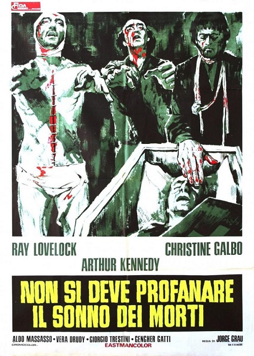 """""""The Living Dead at Manchester Morgue"""". Italian poster."""